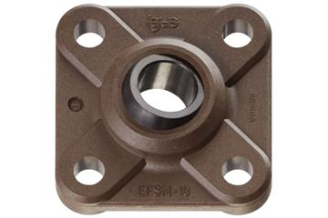 High-temperature flange bearings with 4 mounting holes, EFSM-HT, igubal®, spherical ball iglidur® X