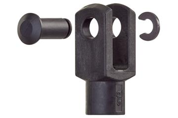 Clevis joint with pin and circlip, GERIK, igubal®