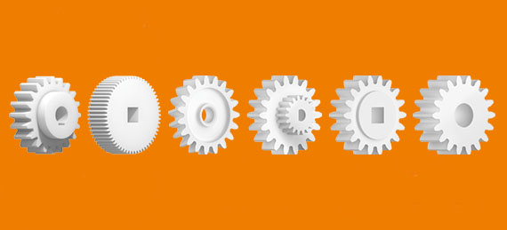 Wear-resistant 3D printed plastic gears for industry